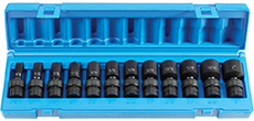 "Grey Pneumatic 1212USD 3/8"" drive semi-deep swivel socket set - Fractional"