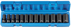 "Grey Pneumatic 1213MSD 3/8"" drive semi-deep metric socket set"