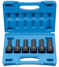 "Grey Pneumatic 8096H 3/4"" drive 6pc. HEX socket set - Fractional"