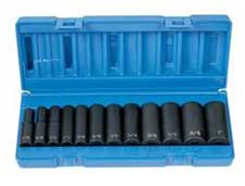 "Grey Pneumatic 1213D 3/8"" Drive SAE deep socket set"