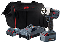 "Ingersoll-Rand W5132-K22 3/8"" drive impact wrench kit with 2 batteries"